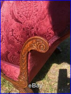 ANTIQUE French Victorian CHAISE LOUNGE. Newly recovered, Truly Breath taking