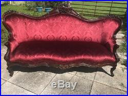 ANTIQUE French Victorian SETTEE or Sofa. Newly recovered, Truly Breath taking