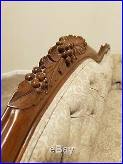 ANTIQUE ORIGINAL Victorian Carved Rosewood/Walnut Sofa Settee-Family Treasure