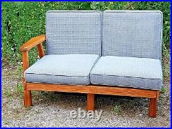 A. Brandt Ranch oak Mid Century Modern 2 pc sectional sofa couch