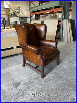 A Very Good Vintage MidC Leather Chesterfield Sofa In original Leathers