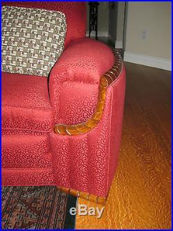 American Art Deco Couch Sofa restored