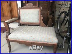 American Eastlake settee made between 1870 to 1890