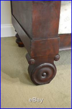 American Empire Period Antique Mahogany Sofa