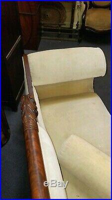 American c. 1825 Classical, Federal Period Antique Sofa Good Original Finish