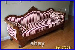 Antique 1800s American Empire Settee Sofa Couch-pick Up Only