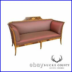 Antique 19th Century Biedermeier Style Inlaid Sofa