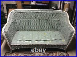 Antique 3 PC Wicker Set High Quality Sofa, Chair & Rocker