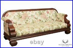 Antique American Empire Mahogany Long Sofa