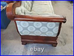 Antique American Empire Mahogany Long Sofa Couch