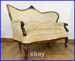 Antique Continental sofa settee
