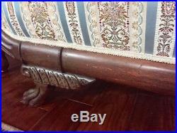 Antique Duncan Phfye Victorian Gooseneck Sofa