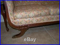 Antique Duncan Phyfe Sofa with Matching Rocking Chair