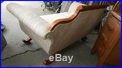 Antique Duncan Phyfe Style Sofa with New Upholstery Love Seat Size