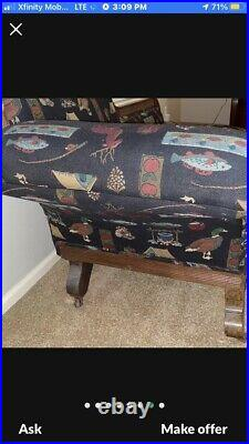 Antique Eastlake Parlor Fainting Couch Sofa Victorian Carved Ornate Chaise 1800s