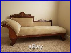 Antique Eastlake Victorian Chaise Fainting Couch