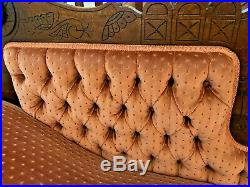 Antique Eastlake Victorian Fainting Couch Chaise Lounge Recamier Circa 1880's