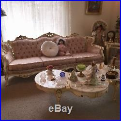 Antique French Gilt Louis XV Rococo 5 piece living room set fabulous condition