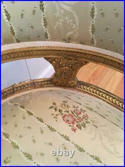 Antique French Louis XVI Style Giltwood Settee Sofa Loveseat Elegant