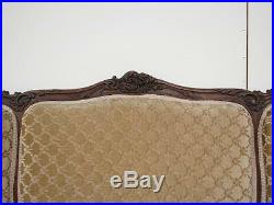 Antique French Louis XV Carved Walnut Settee Bench