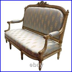 Antique French Love Seat, Settee Parlour Sofa