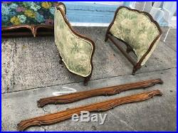 Antique French Love seat or Daybed