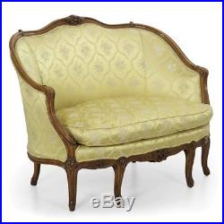 Antique French Sofa Settee / Louis Style Canapé / Hand Carved, late 19th Century