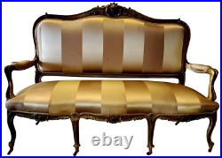 Antique Gold Accent Settee on wheels