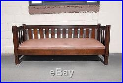 Antique Jm Young Mission Settle Couch Arts And Crafts