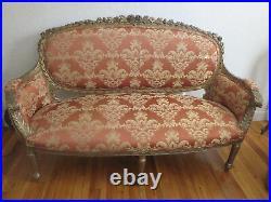 Antique Large 70 Louis XVI Settee Sofa