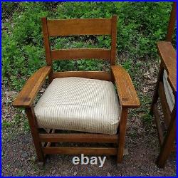 Antique Limbert Settee Sofa withHubbard Chair & misc. Rocker