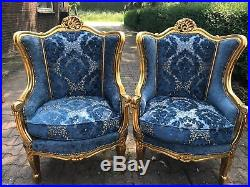 Antique Louis XVI French Living Room Set Sofa/settee + 2 Chairs-worldwide Ship
