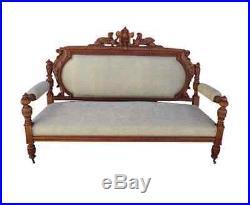 Antique R. J. Horner Settee Bench Sofa