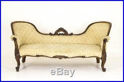 Antique Settee Victorian Sofa Double End Sofa Scotland, 1870 B766