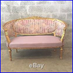 Antique Sofa +2 Chairs In French Louis XVI Style