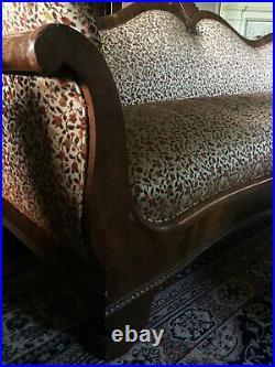 Antique Sofa Couch Civil War Era Parlor Sofa