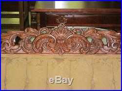 Antique Sofa French Style Hand Carved Walnut