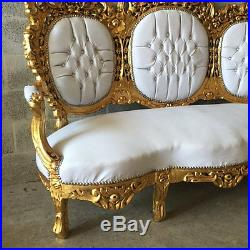 Antique Sofa/couch/3-seater/settee In Rococo Style