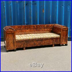 Antique Swedish Birch Biedermeier Sofa