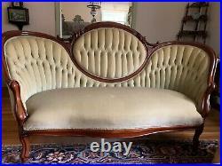Antique Tufted Victorian Sofa