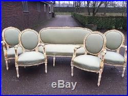 french living room set. Antique Unique French Living Room Set Sofa settee couch 4 Chairs