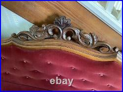 Antique Victorian 2 Pc Parlor Set Couch And Chair