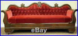 Antique Victorian Empire Serpentine Sofa