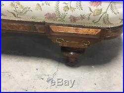 Antique Victorian Fainting Couch Sofa Chaise Lounge