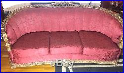 Antique Victorian Furniture set, Sofa and Chair