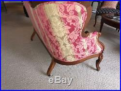 Antique Victorian Loveseat Professionally Reupholstered