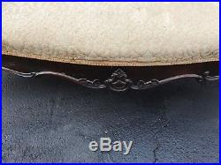 Antique Victorian Rosewood Belter Meeks Era Sofa Settee Couch