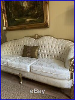 Antique Victorian Sofa French Provincial