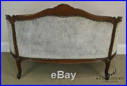 Antique Vintage 1920's Carved Mahogany Louis XV Rococo Carved Loveseat