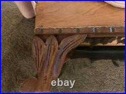 Antique Vintage Salesman Sample Miniature Doll Size Chaise Lounge Fainting Couch